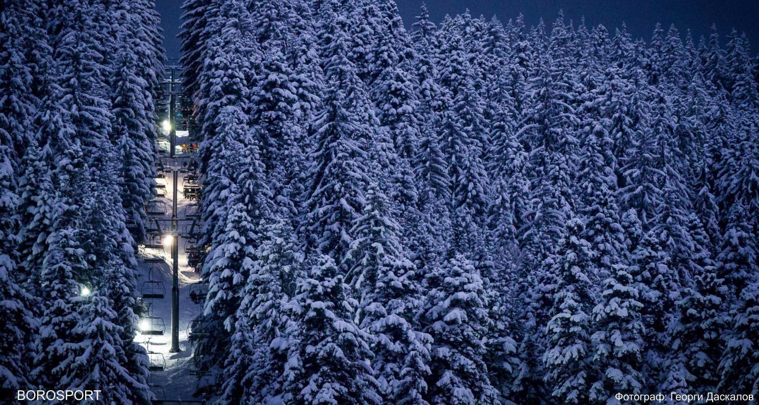 Снимка на новия лифт в Боровец